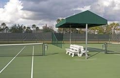 Court de tennis extérieur Image libre de droits