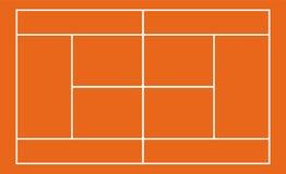 Court de tennis réaliste de calibre avec des lignes Vecteur illustration de vecteur