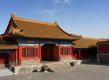 A court entrance in the Forbidden City Royalty Free Stock Photos