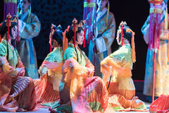 "Court female officer-The emperor's wedding-Jiangxi opera ""Red pearl"" Royalty Free Stock Image"