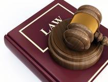 Court gavel. 3d image on white background Stock Photo