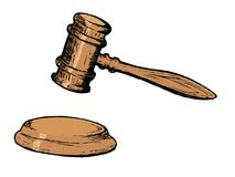 Court gavel Stock Images