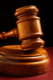 Court gavel. Closeup of a judges wooden court gavel Royalty Free Stock Photo