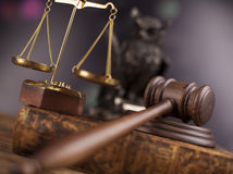 Court gavel,Law theme, mallet of judge Stock Images