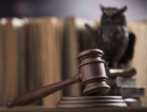Court gavel,Law theme, mallet of judge Royalty Free Stock Images