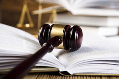 Court gavel,Law theme, mallet of judge Stock Photos