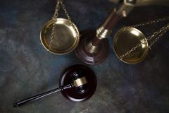 Court gavel,Law theme, mallet of judge. Gavel, Mallet of justice concept royalty free stock photography