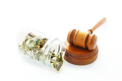 Court gavel payment Royalty Free Stock Images
