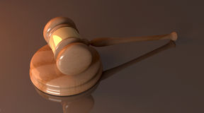 Court Hammer. 3D rendered Illustration. An auction or court hammer Stock Photo