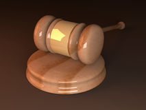 Court Hammer. 3D rendered Illustration. An auction or court hammer Royalty Free Stock Photos