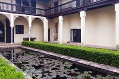 Court of home of Chapiz (Casa del Chapiz).  Granada Royalty Free Stock Images