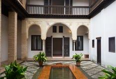 Court of home of Hernan Lopez el Feri (Casa de Hernan Lopez el F Royalty Free Stock Image