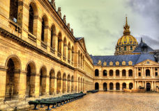 Court of Honor in the Residence of the Invalids. Paris Stock Images