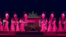 "The court of honor-wealthy and influential family-Jiangxi opera ""Red pearl"" Royalty Free Stock Photos"