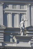 Court House Architecture. Closeup view of court house architecture & statue of lady liberty Stock Image
