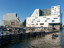 Court house and hotel on IJdock in Amsterdam Royalty Free Stock Photo
