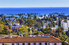 Court House Main Street Pacific Ocean Santa Barbara California Stock Photo