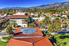 Court House Orange Roofs Buildings Mission Houses Santa Barbara Stock Photography