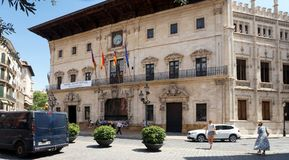 Court House in Palma de Mallorca, Spain. The court house in Palma de Mallorca. Mallorca is the largest of the Balearic Islands which are part of Spain. Mallorca Stock Photo