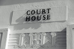 Court House sign Royalty Free Stock Images
