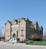 Court House Square. Scene in Harlan Iowa Royalty Free Stock Photos