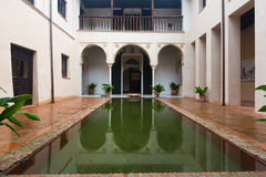Court of house of Zafra  .  Granada Stock Photography
