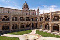 Court in Jeronimos monastery, Lisbon Stock Images