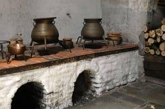 COURT KITCHEN. Historic kitchen in Hampton Court, England Stock Photo