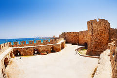 The court of Knights Grand Master Palace, Rhodes Stock Photo