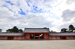 The court of Kyoto imperial palace, Japan. Stock Photos