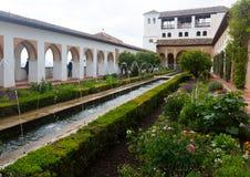 He Court of la Acequia at Generalife. Granada Stock Image