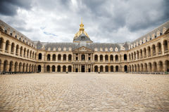 Court of Les Invalides Stock Photos