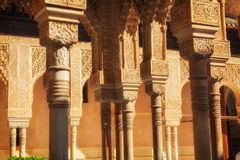 Court of the Lions in Alhambra de Granada, Spain Royalty Free Stock Image