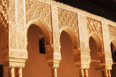 Court of the Lions in Alhambra de Granada, Spain Stock Photo
