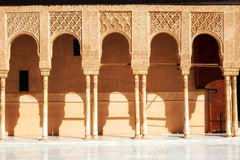 Court of the Lions in Alhambra de Granada, Spain Stock Photography