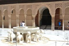 Court of Lions, Alhambra, Granada Royalty Free Stock Images