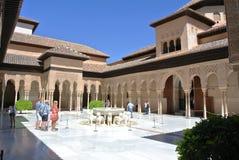 Court of Lions, Alhambra, Granada Stock Photos