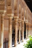 Court of the Lions, Alhambra Palace. Marble arches forming the arcades surrounding the court of the Lions (Patio de los leones), Palace of Alhambra, Granada Stock Photos