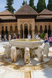 Court of lions in granada Royalty Free Stock Image