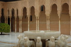 Court of the Lions in La Alhambra Royalty Free Stock Image