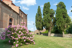 Court of Medieval Abbey. Italy royalty free stock images