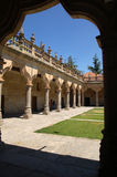 Court of the Minor Schools. Cloister of the building of the Minor Schools of Salamanca in summer Royalty Free Stock Photography