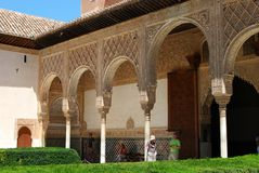 Court of the Myrtles, Alhambra Palace. Royalty Free Stock Photos