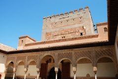 Court of the Myrtles, Alhambra Palace. Stock Image