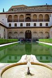 Court of the Myrtles, Alhambra Palace. Stock Photography