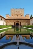 Court of the Myrtles, Alhambra Palace. Royalty Free Stock Images
