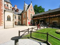 Court Of Chateau Du Clos Luce In Amboise Town Stock Photos
