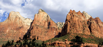 Court of the Patriarchs, Zion National Park Stock Image