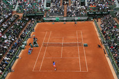 Court Philippe Chatrier at Le Stade Roland Garros during Roland Garros 2015 match Stock Photos