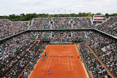 Court Philippe Chatrier at Le Stade Roland Garros during Roland Garros 2015 match Royalty Free Stock Photography
